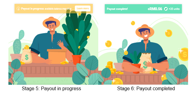 Payout in progress | Payout completed