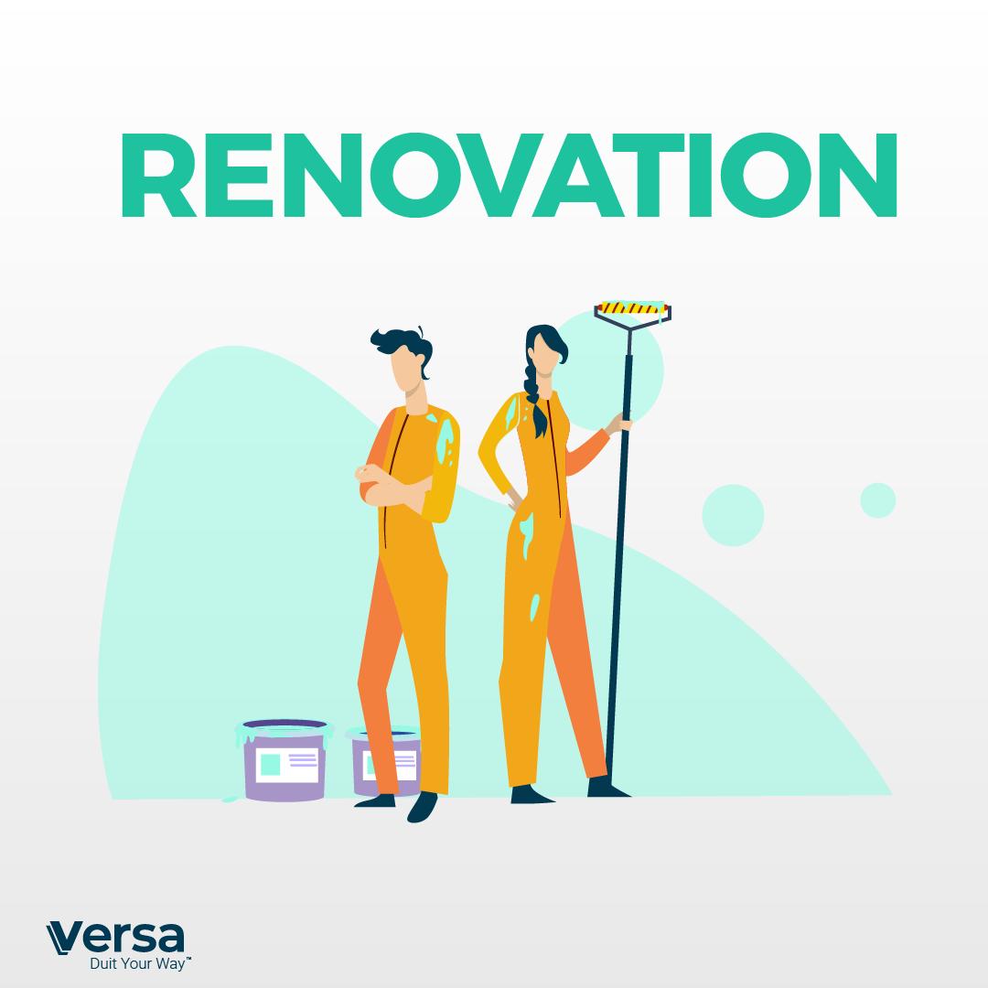 Renovation (Furniture, fittings, electronics)